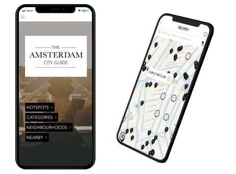 Get our - Amsterdam App - Over 800 hotspots nearby