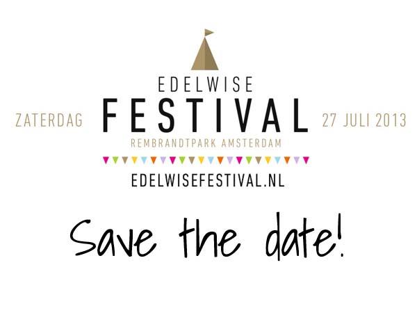 EdelWise Festival Amsterdam: Rembrandtpark op 27 juli!