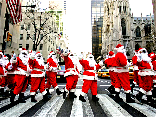 New York Christmas street fairs