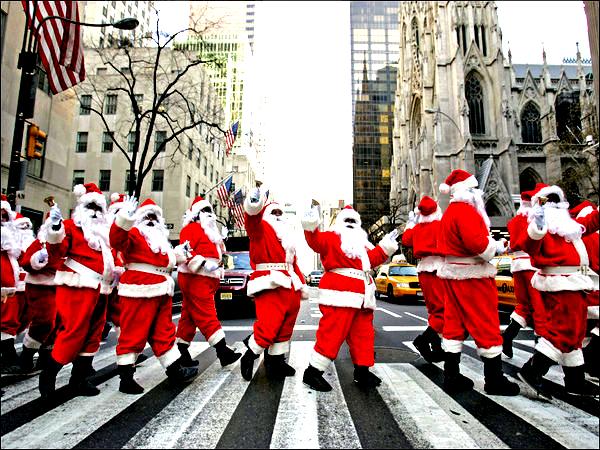 New York Christmas street fairs