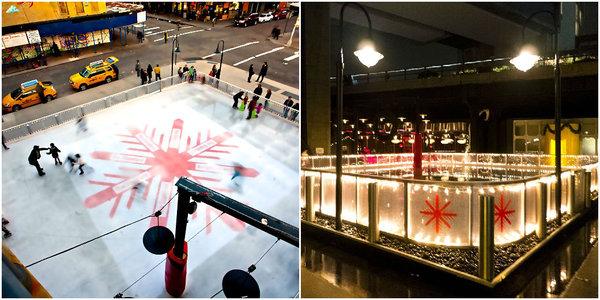 Ice skating New York: The Standard Hotel