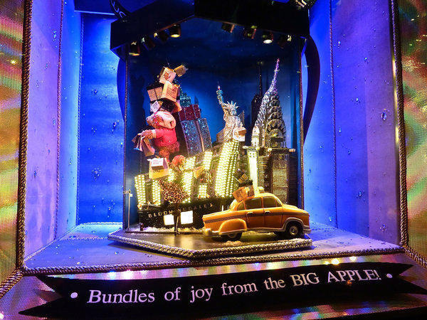 Bloomingdales Christmas window display New York