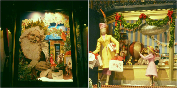 Lord and Taylor Christmas window displays: Santa Claus