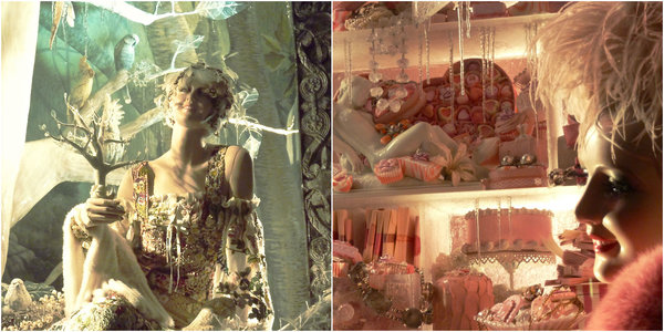 Bergdorf Goodman windows Christmas: Arbor Day and Valentine's Day