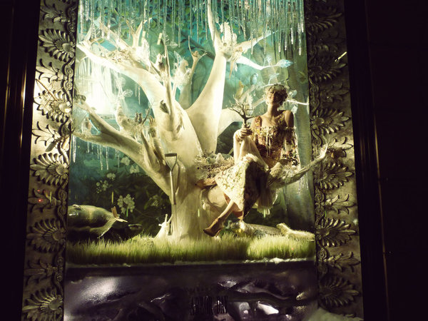 Bergdorf Goodman windows Christmas: Arbor Day