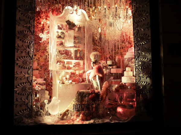 Bergdorf Goodman windows Christmas: Valentine's Day