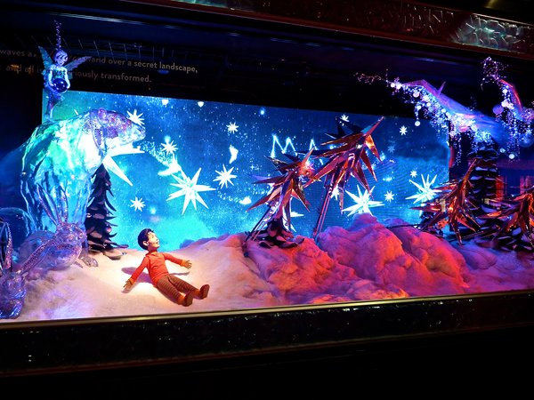 Macy's Christmas window displays Believe