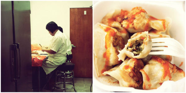 Dumplings maken Chinatown New York