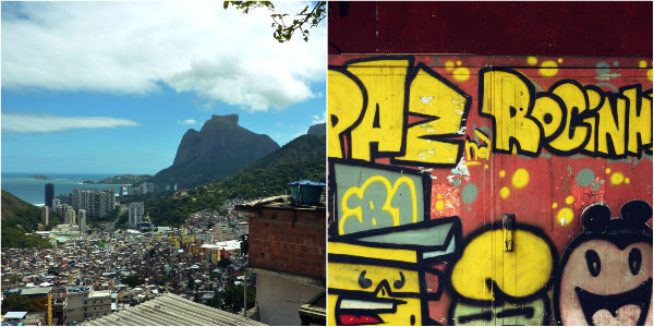 Views in and from favela Rio de Janeiro