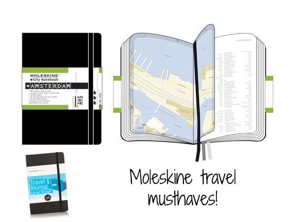Moleskini Travel and City Notebooks