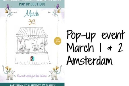 Pop-up boutique Amsterdam March 1 & 2
