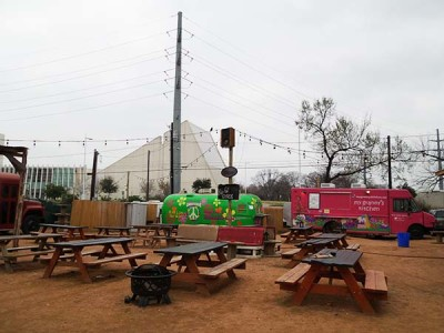 Food Truck park at Rainey Street in Austin