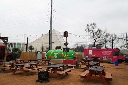 Food Truck park at Rainey Street in Austin