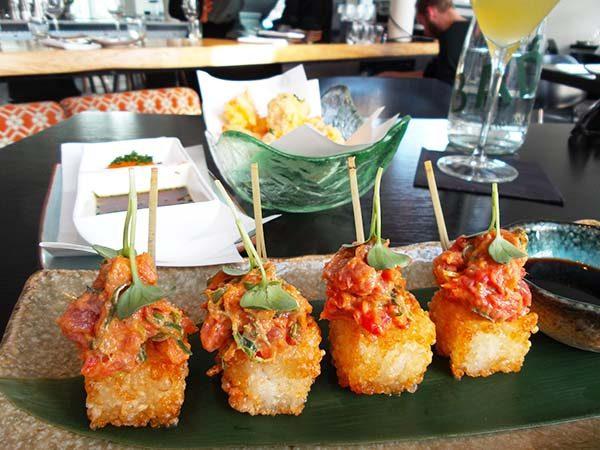 Japanese restaurant Izakaya at the Sir Albert hotel in Amsterdam - spicy tuna