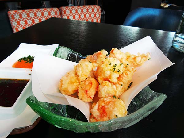 Japanese restaurant Izakaya at the Sir Albert hotel in Amsterdam - popcorn shrimp