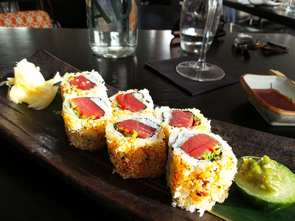 Japanese restaurant Izakaya at the Sir Albert hotel in Amsterdam - spicy tuna