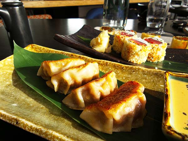 Japanese restaurant Izakaya at the Sir Albert hotel in Amsterdam - gyoza