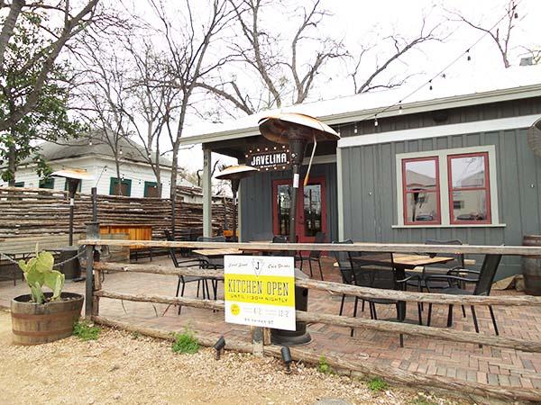 Javelina bar at Rainey Street in Austin (Texas)