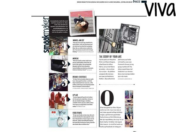 Anne de Buck van Your Little Black Book featured in the Dutch magazine VIVA