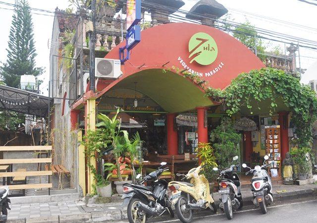 Zula vegetarian restaurant in Seminyak (Bali)