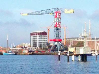 Faralda crane hotel in Amsterdam North