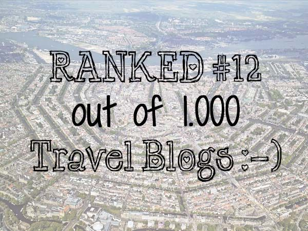 Your Little Black Book is the #12 out of 1.000 travel blogs!