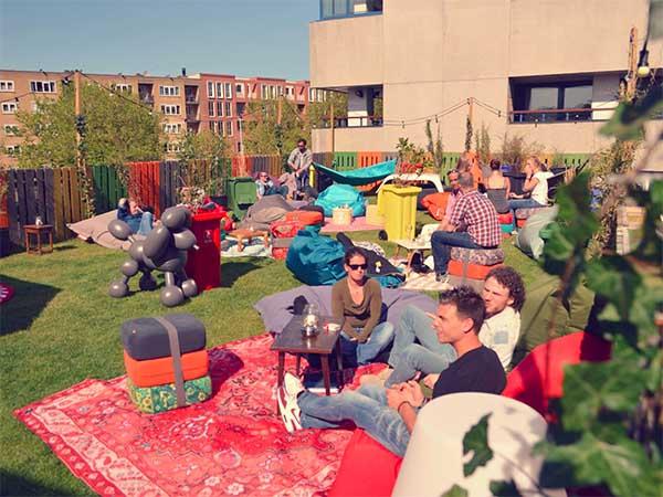 Opbaut amsterdam rooftop bar in amsterdam - Dakterras restaurant ...