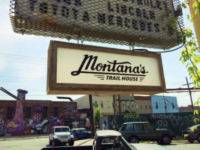 Sign Montana's Trail House Troutman Bushwick