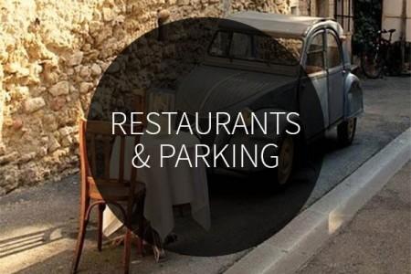 restaurants & parking