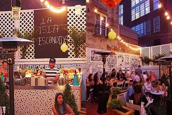 La Isla Escondida NYC Outdoor Restaurant Cocktails