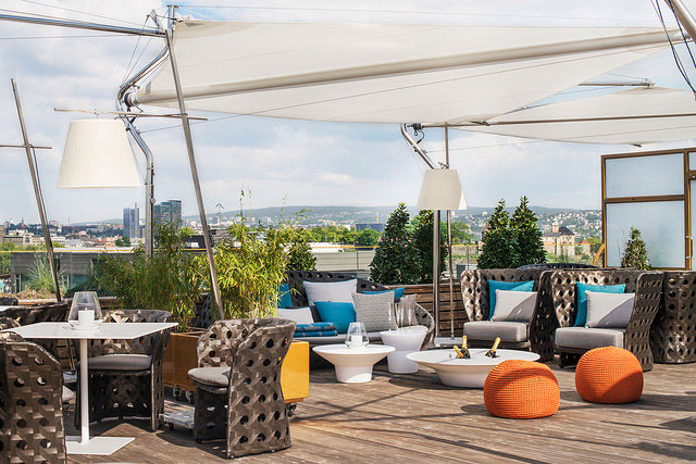 Rooftop bar and restaurant Oslo