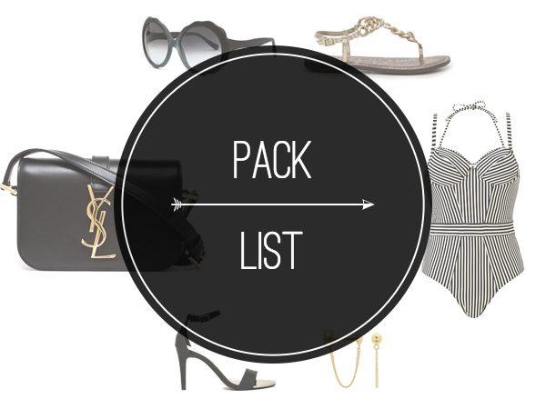Packlist Dubai