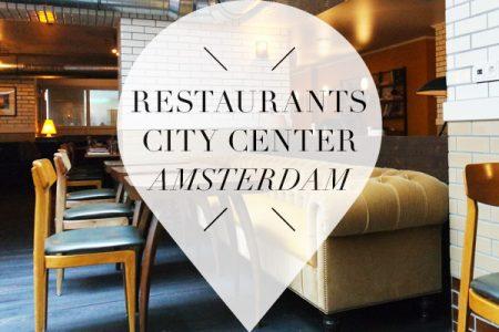 Restaurants in Amsterdam city center