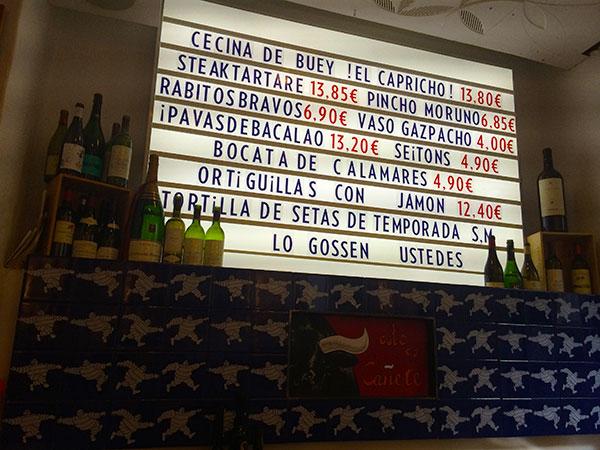 Bar Cañete interior