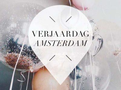 verjaardag in amsterdam