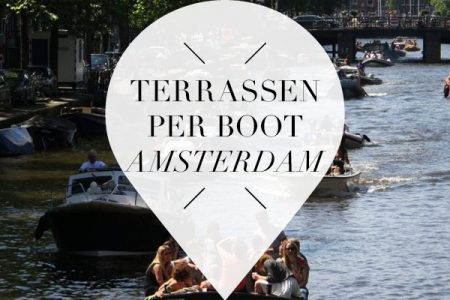 terrassen per boot in Amsterdam