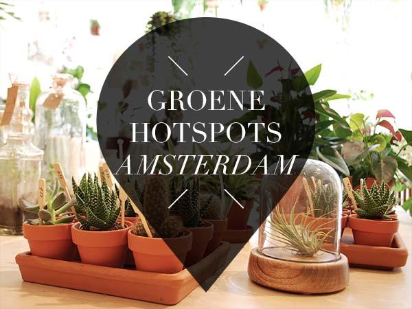 Groene hotspots amsterdam