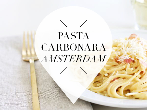 pasta carbonara in amsterdam