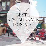 beste restaurants toronto