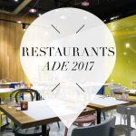 restaurants voor ADE 2017