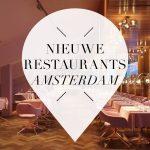 nieuwe restaurants