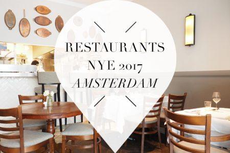 New Years Eve restaurants 2017 Amsterdam