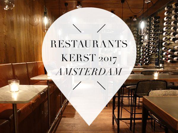 restaurants kerst 2017 amsterdam