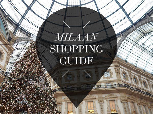Milaan shopping guide