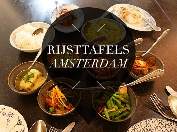 rijsttafels in amsterdam