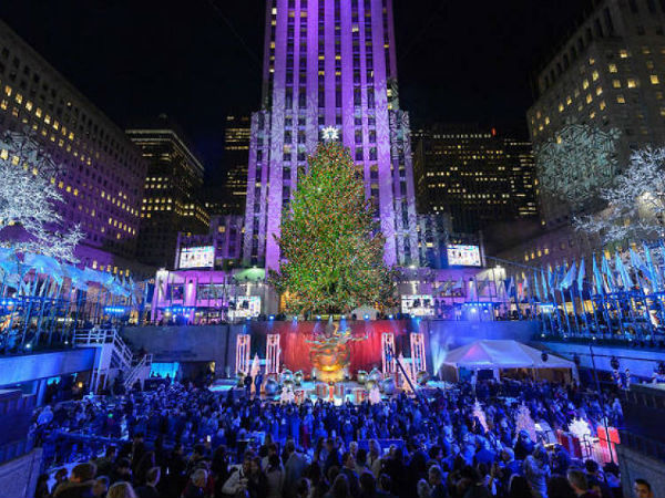 feestdagen in New York Rockefeller center