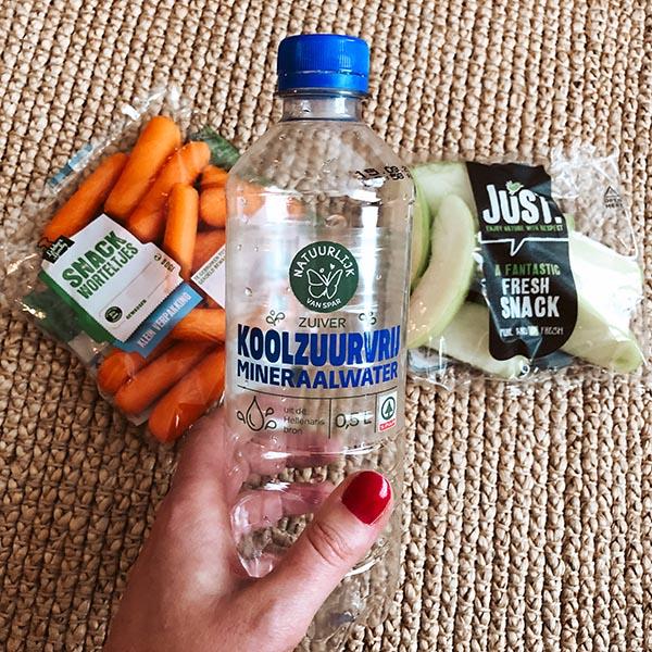 gezonde snacks voor in het vliegtuig