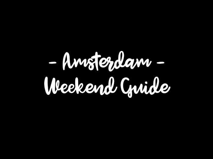 amsterdam weekend guide your little black book