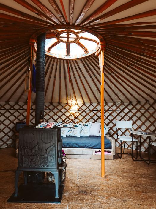 Yurt op natuurcamping De Kemphaan