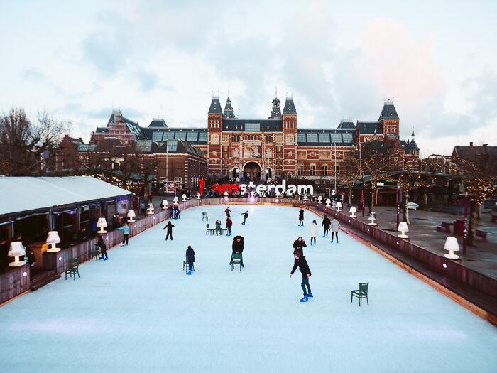schaatsbaan museumplein ice amsterdam